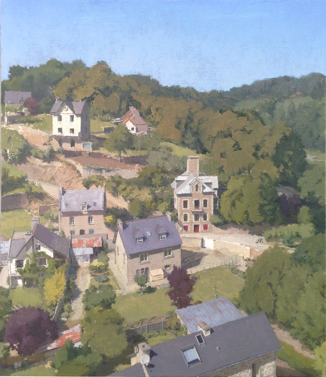 Riesmeyer,Daniel, View from Lehon FR, Oil on Muslin on Panel, 14%22x12%22.JPG