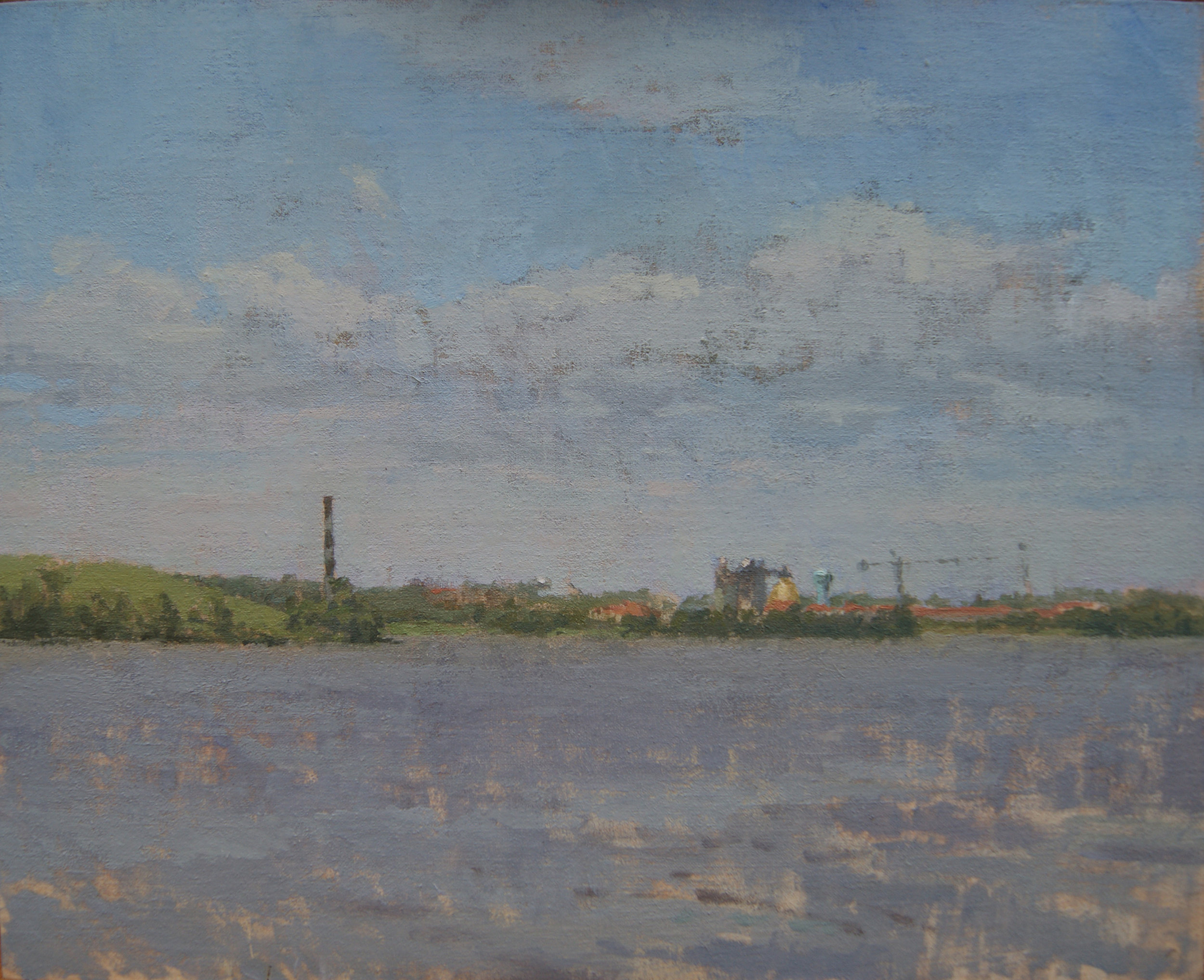 Dundulk Water Plant, Oil on Muslin on Panel, 8%22x10%22.JPG