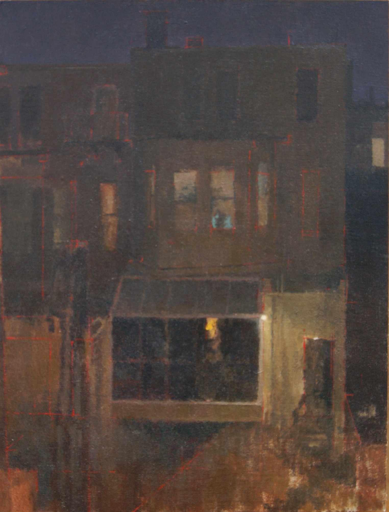 The Back Alley, Oil on Muslin on Panel, 10%22x8%22.JPG