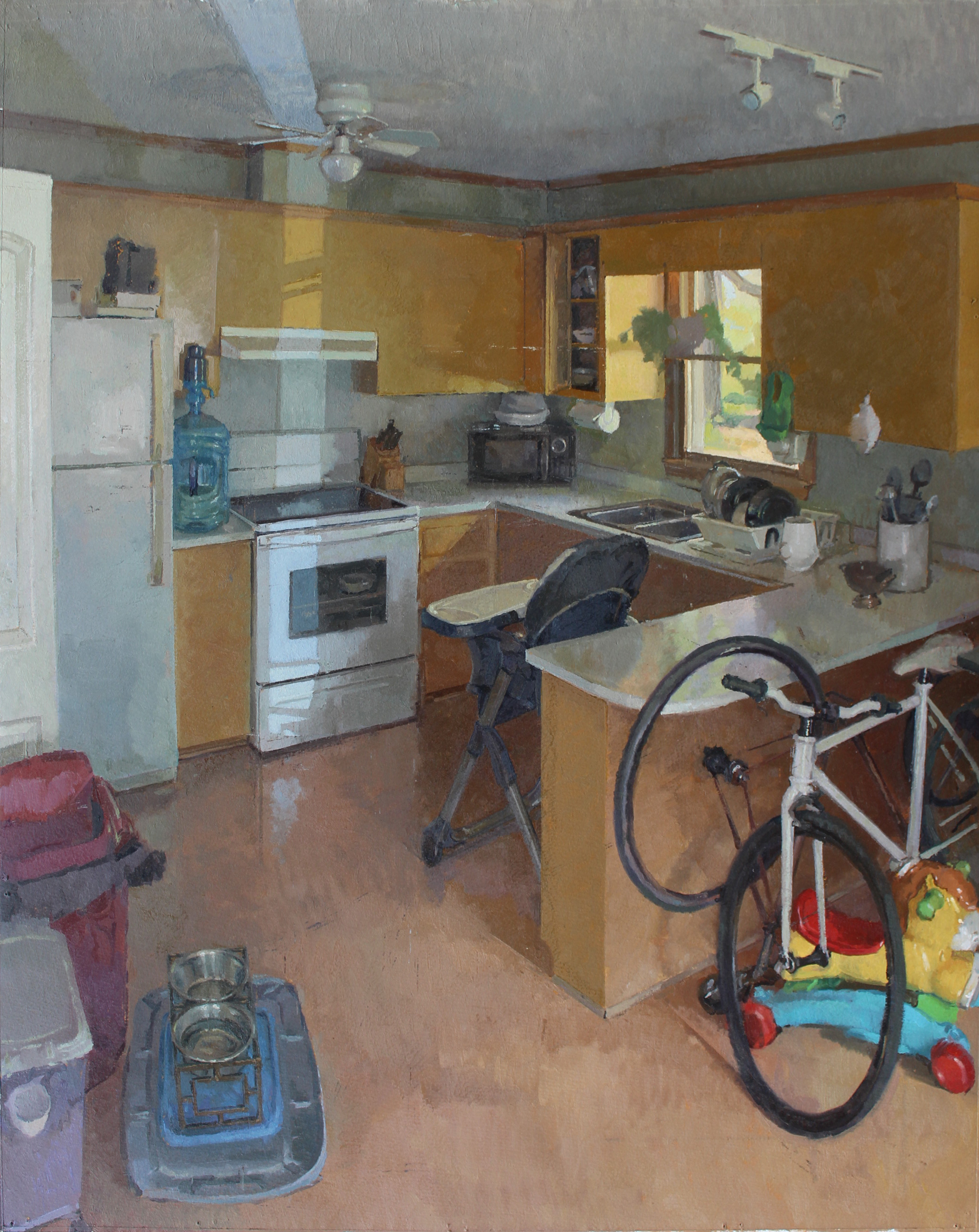 The Kitchen at Bozman Neavitt Road, Oil on paper, 29%22x23%22.JPG