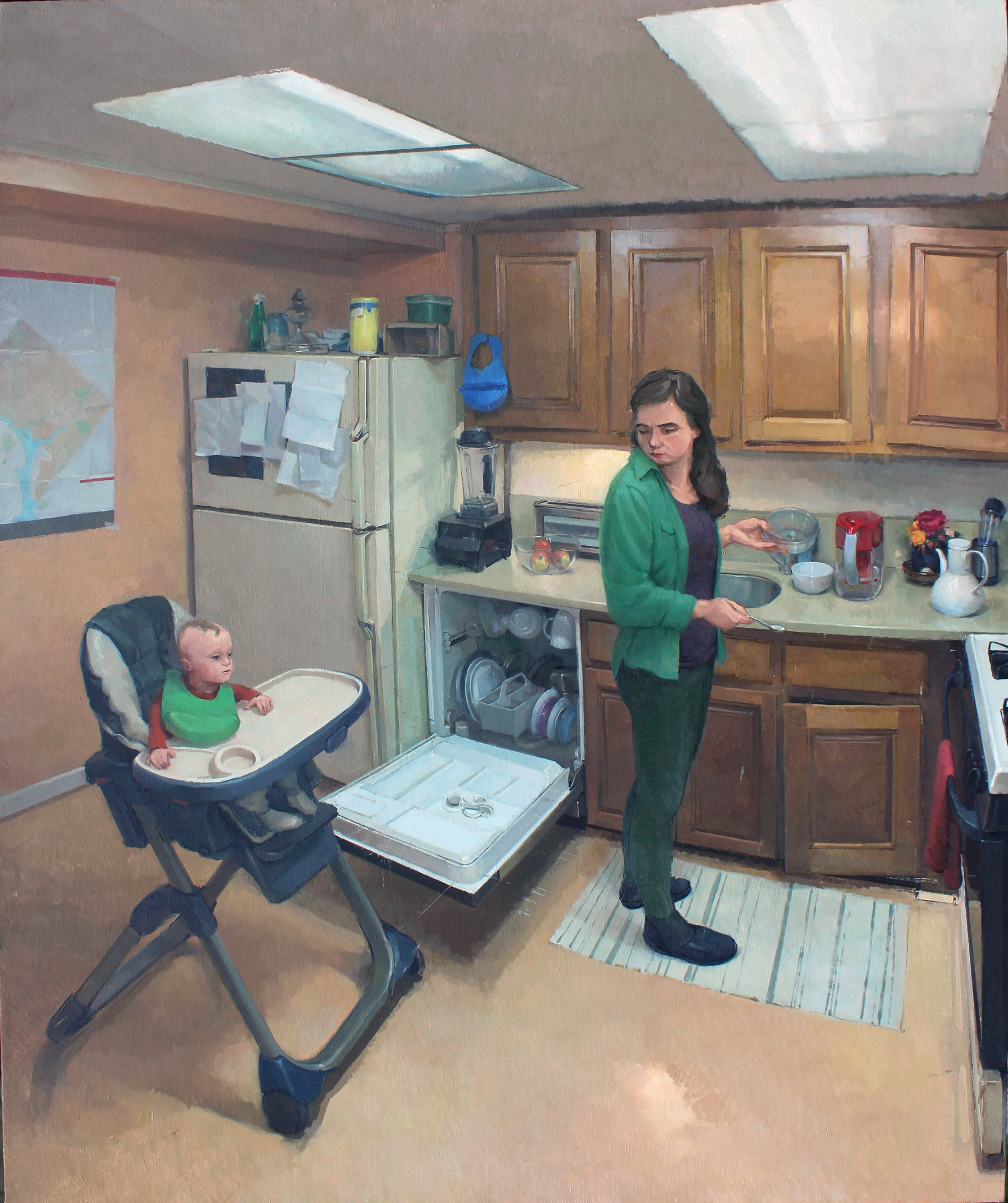 The Meal, Oil on Linen, 46%22x38%22.jpg