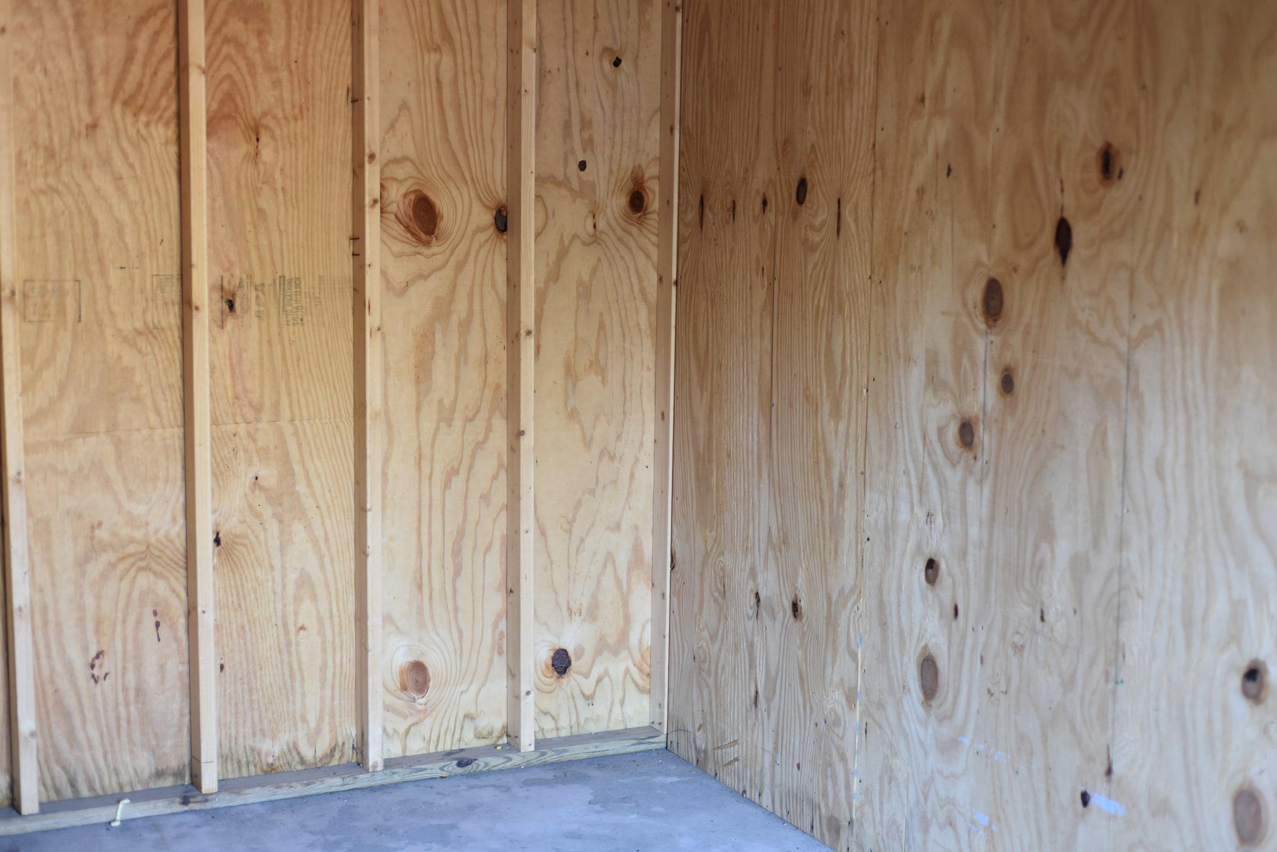 interior of storage unit