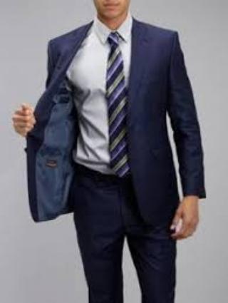 Baumler Navy mens suit