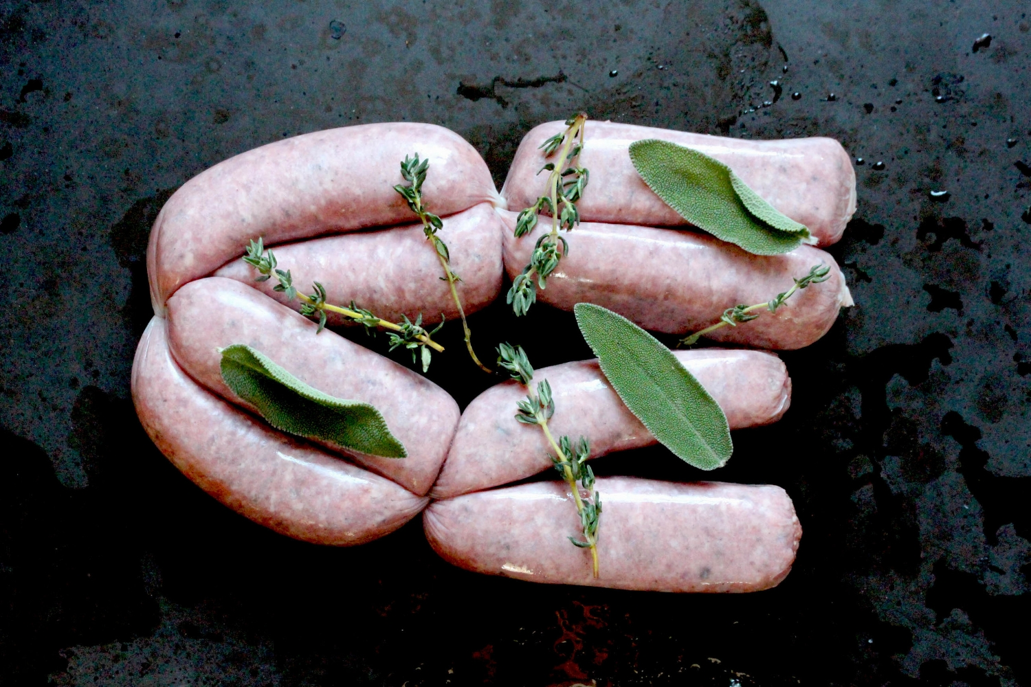 locally made wild boar sausages