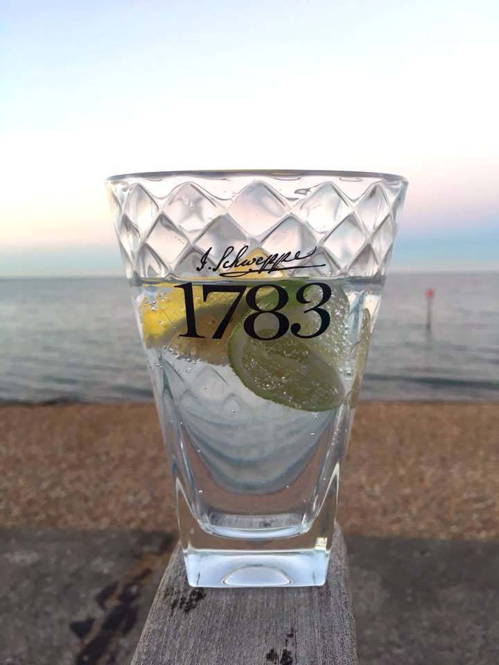 G&T on the beach by Angie Pangie