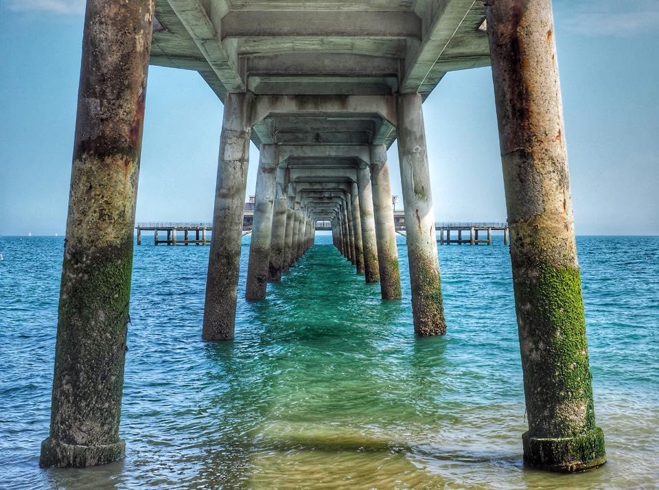 Under Deal pier by Beverley Birchley