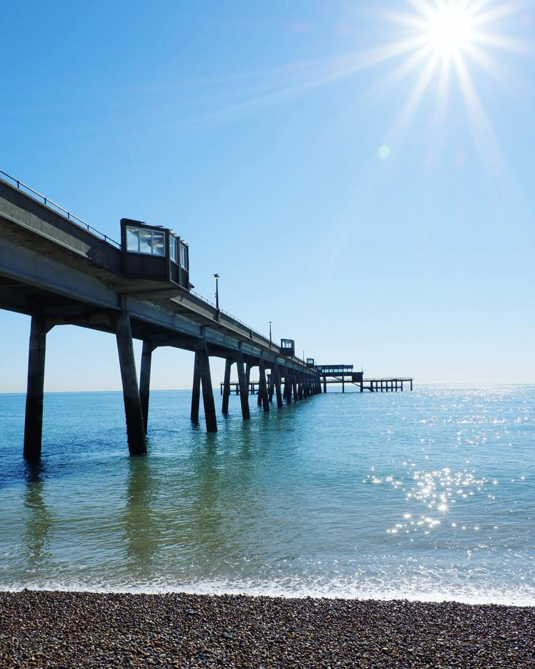 Deal Pier in the sunshine by Charn Tia Moore