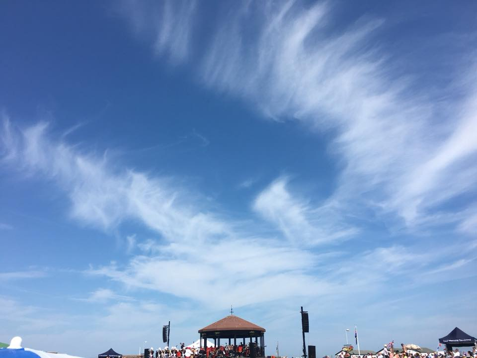 Blue skies over the bandstand by Steve Groombridge