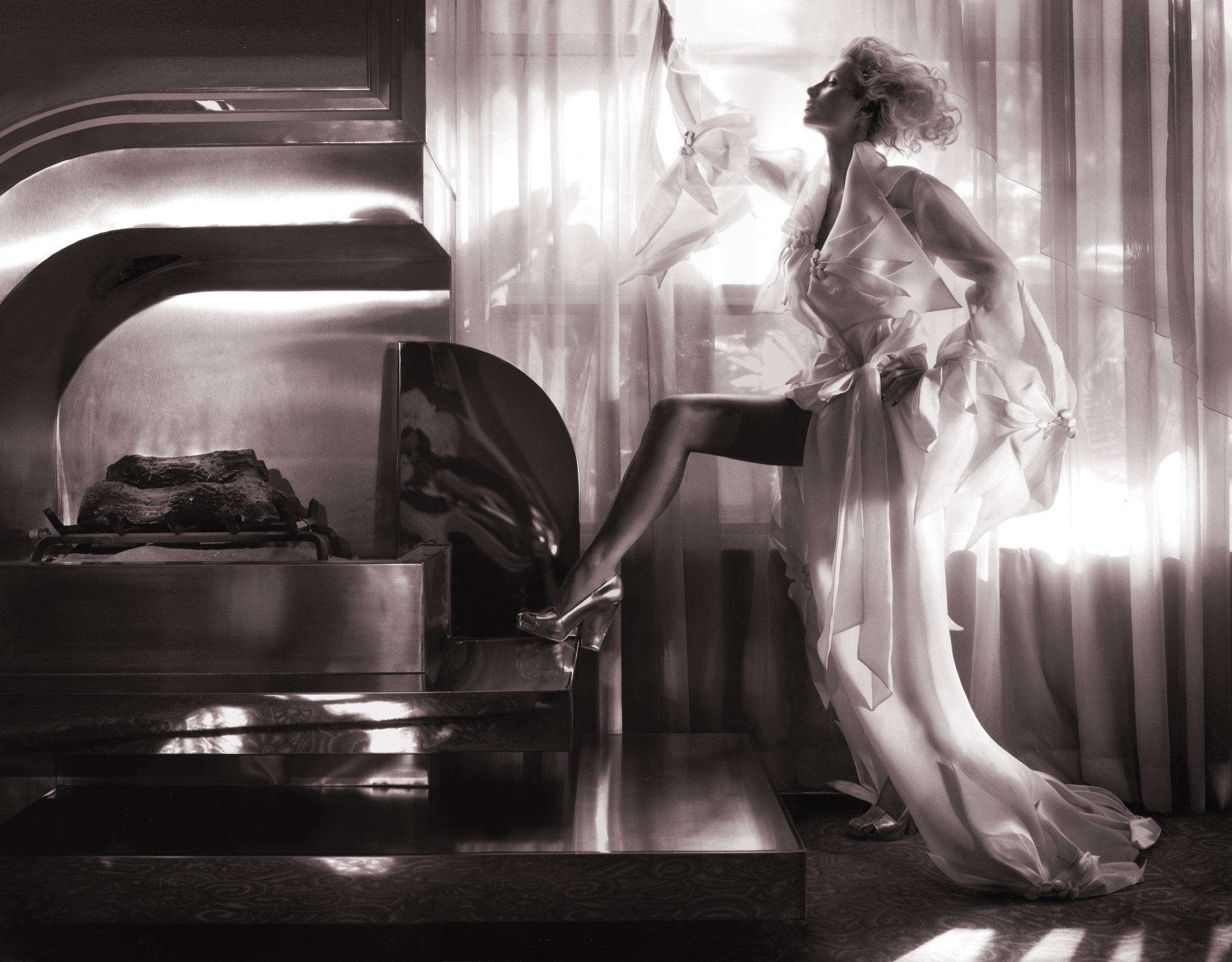 Paris Hilton wearing Bird of  Paradise evening coat.jpg