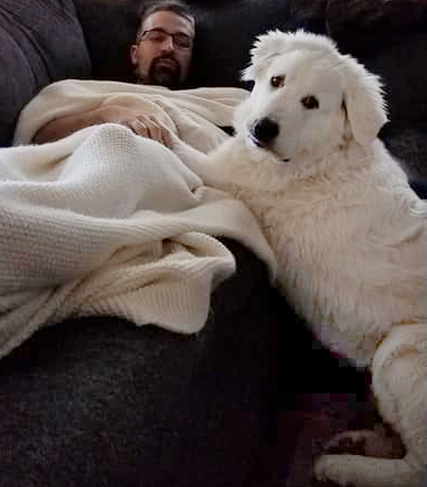 Klondike's dad Bobby Recsh isn't feeling well. What is a guardian puppy to do?