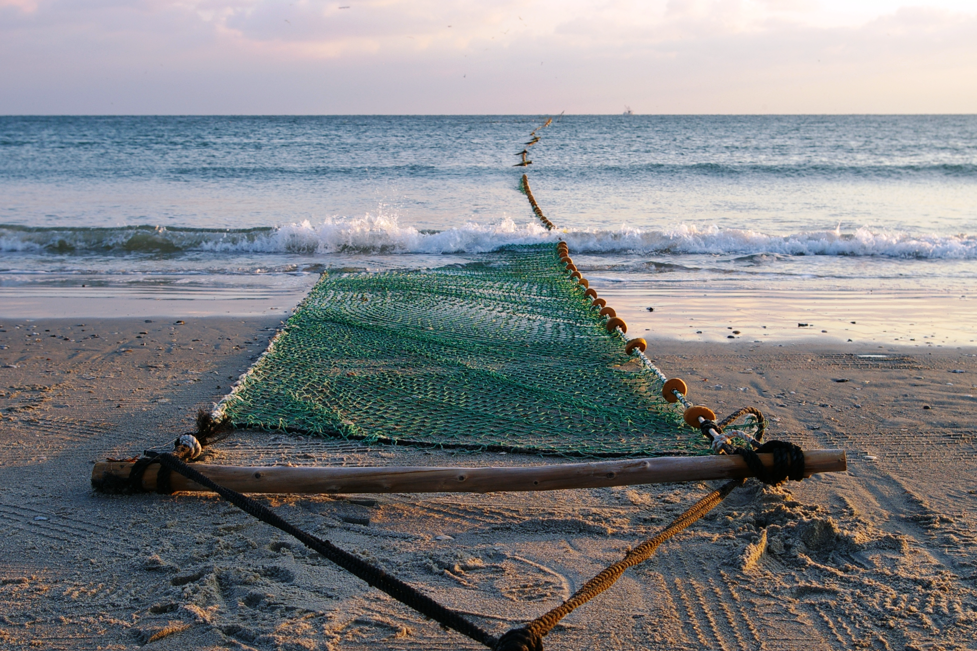 Fishing Net on Beach CREDIT: Brandon Puckett / coral reef image bank