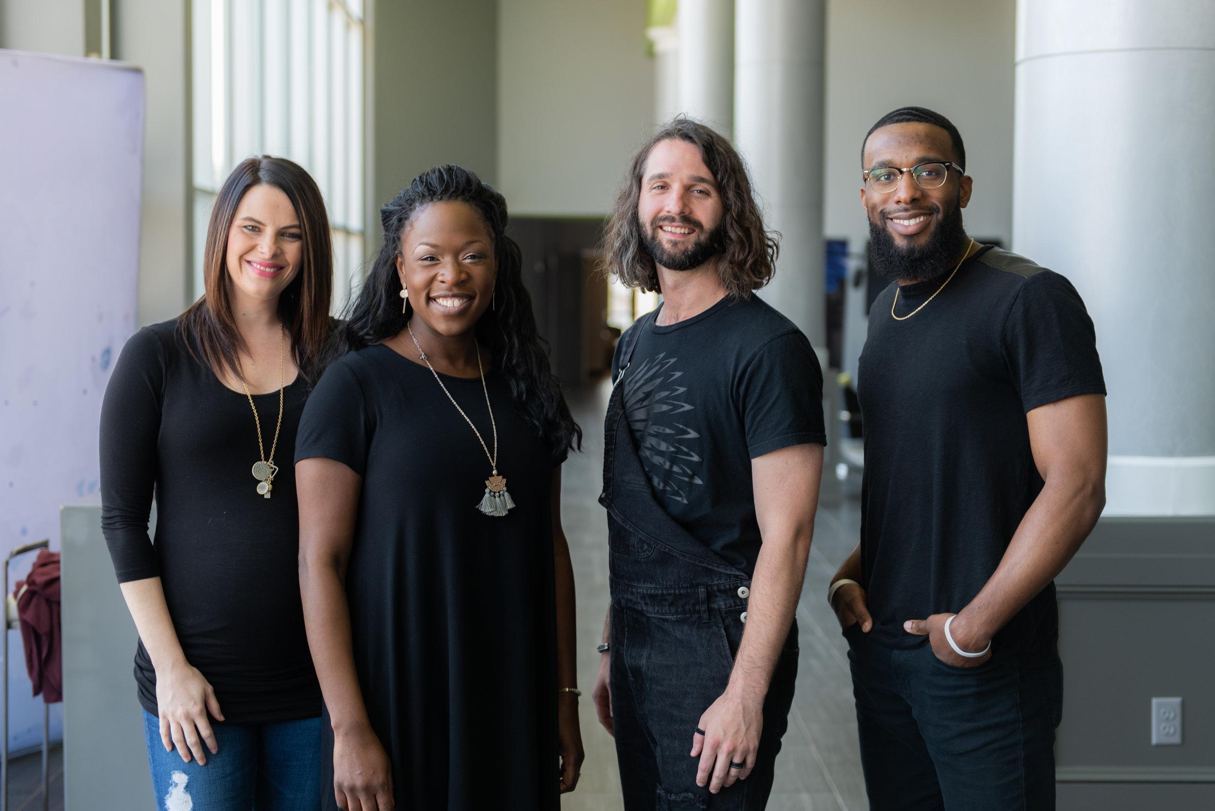 Lacey, Jojo, Tobin and Lebron Worship Team