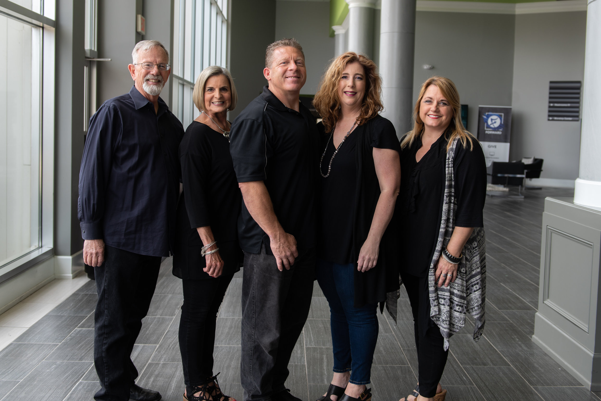 Lee, Marcia, Gary, Jennifer and Anna Share Team
