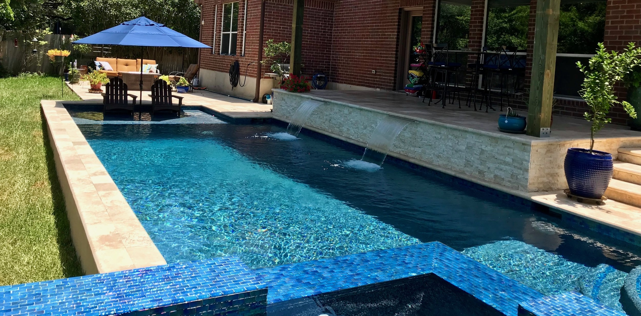 LCP designed and implemented custom pool in Texas
