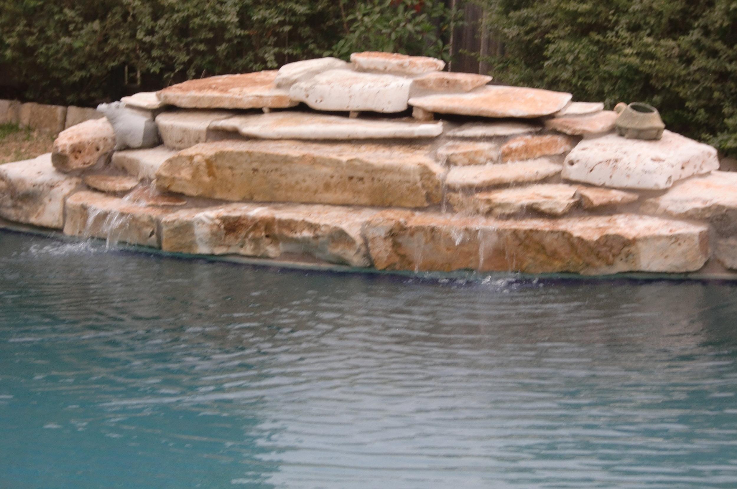 3 ton flat stone Water Fall.JPG