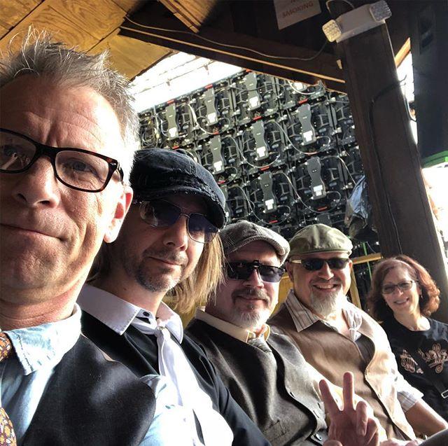 Waiting to watch Sam Bush...Jerry Douglas...and the Merlefest Veterans jam line-up from back stage! #johndobat #thehackwells #merlefest