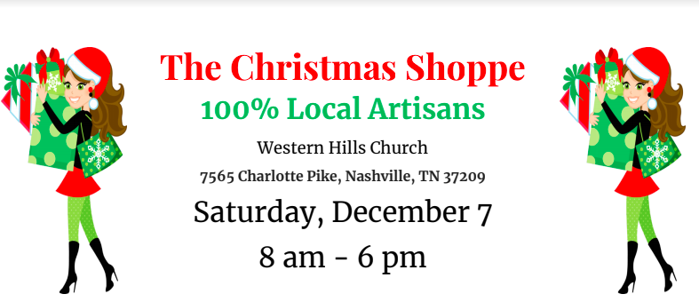 - SATURDAY, DECEMBER 78:00 AM - 6:00 PMFOR MORE INFORMATION: https://thechristmasshoppe.weebly.com/