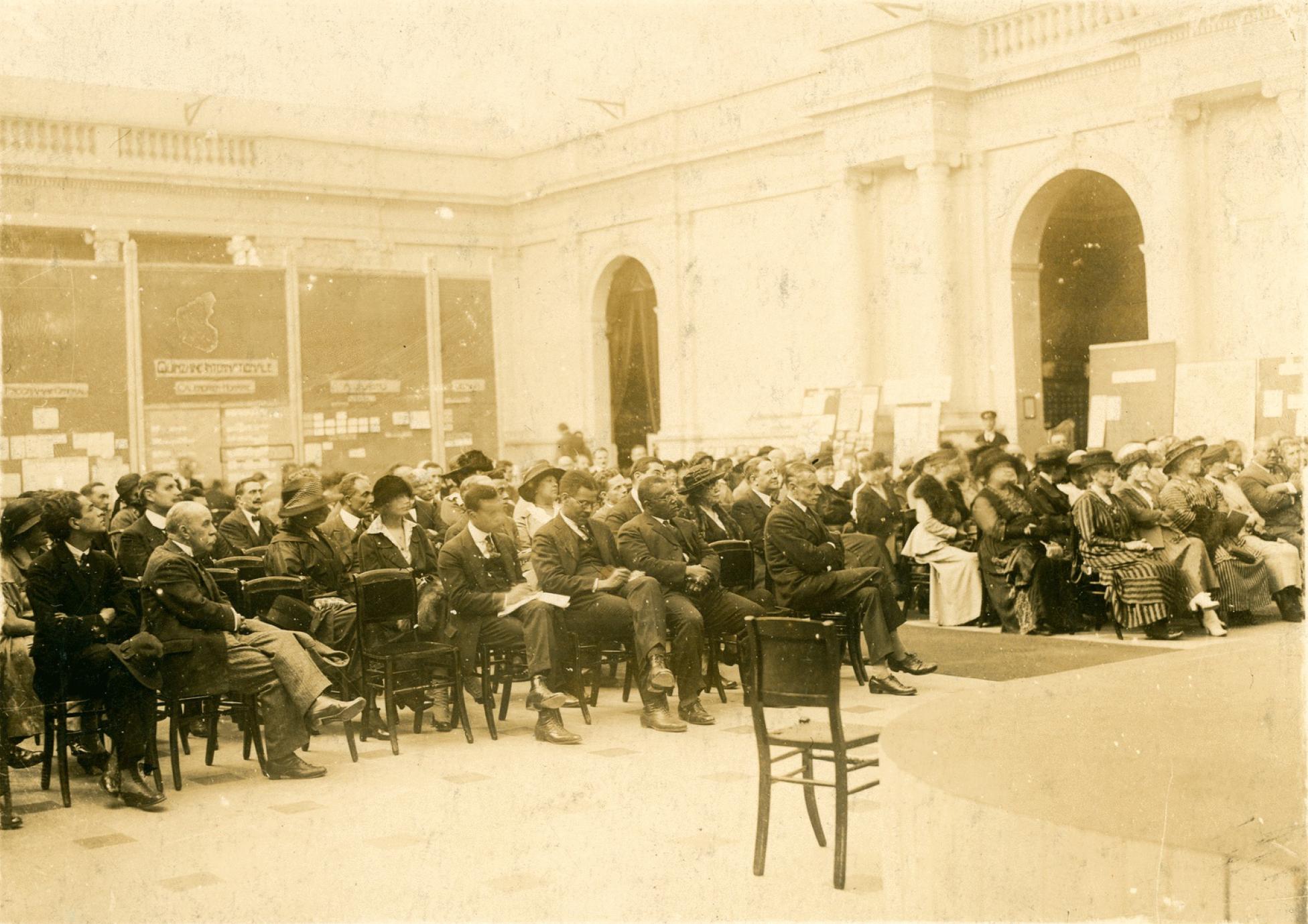 Pan-African Congress, Belgium, 1921. W.E.B. Du Bois Papers, University of Massachusetts Amherst Libaries.