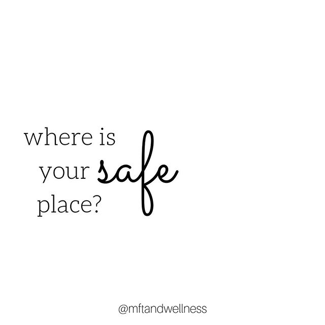 """What does safety mean to you? ✧  Safety is often synonymous with comfort, peace, tranquility, respite, serenity, protection. ⠀⠀⠀⠀⠀⠀⠀⠀⠀ ✧ -Close your eyes -Imagine the place where you gravitate towards when you are upset... when you are in need of a reset... when you need to take a breath and just pause... when you desperately need to just feel """"ok"""" again. ✧ How often do you make time to be in this place of safety? We all need a space to reconnect to ourselves, to get grounded and to re-center. ⠀⠀⠀⠀⠀⠀⠀⠀⠀ ✧ If nothing popped up for you, challenge yourself to create this sacred space for yourself. If you were able to name this place for yourself, try to frequent it a bit more moving forward. ✧ -Meredith Mertens Hegedus, LCPC"""