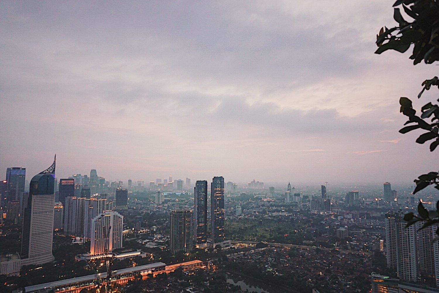 A view from one of the rooftop bars in Jakarta.