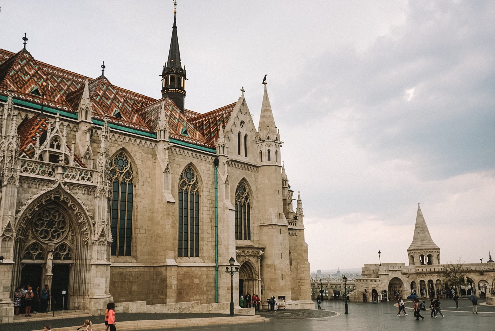 Matthias Church  at the heart of the  Buda's Castle District ; built in the second half of the 14th century.