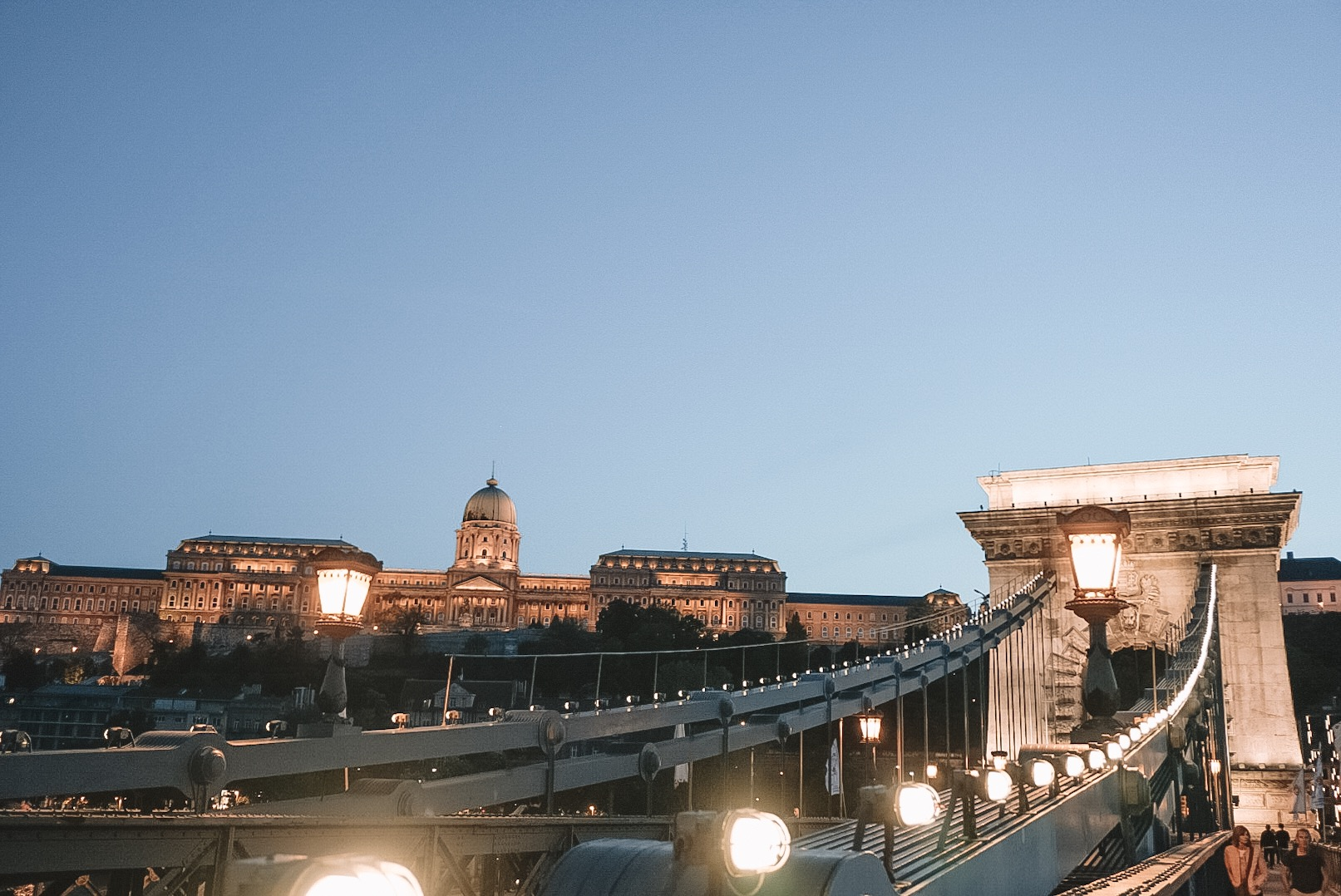 Szechenyi Chain Bridge:  connecting both the Pest and the Buda side of the city.