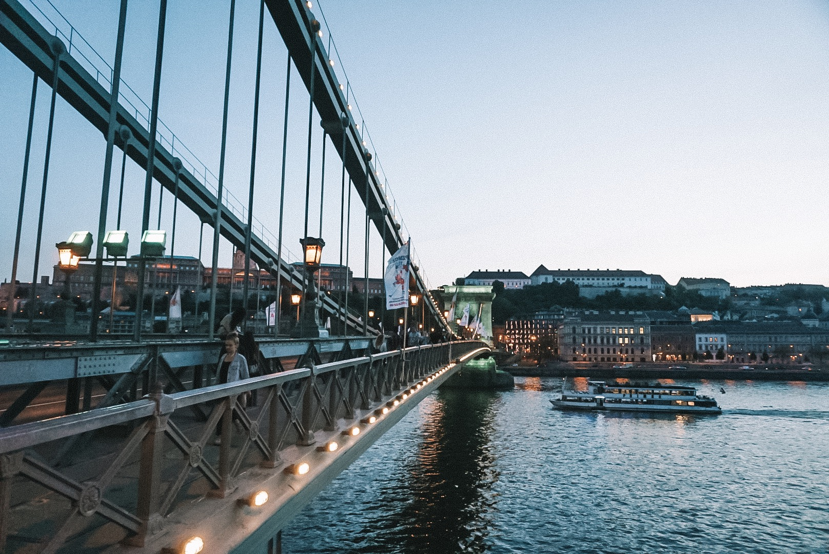 Szechenyi Chain Bridge : one of the most iconic and picturesque landmarks of Budapest.
