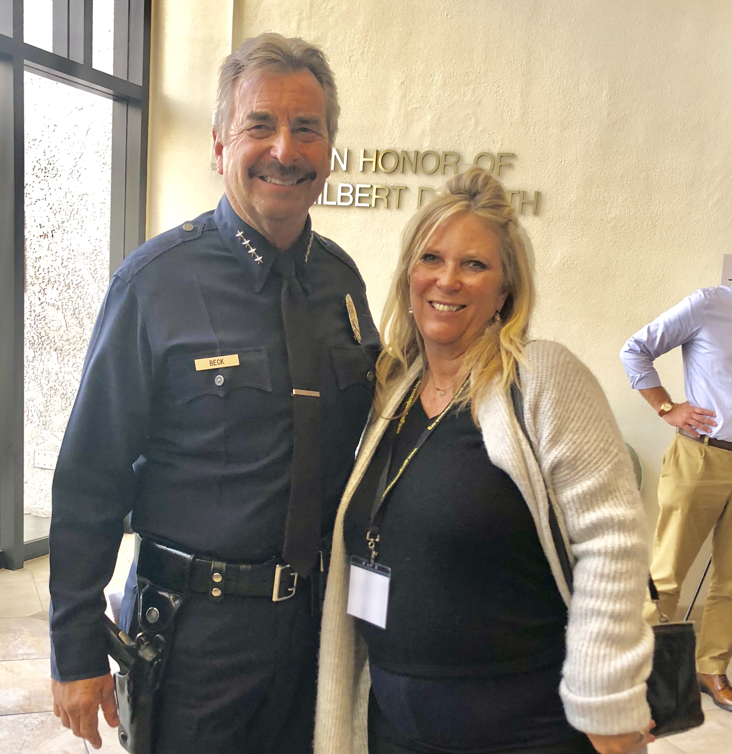 with LAPD Chief Charlie Beck