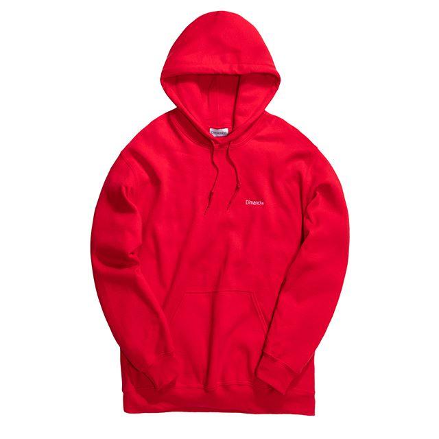 Red Dímanche Hoodie
