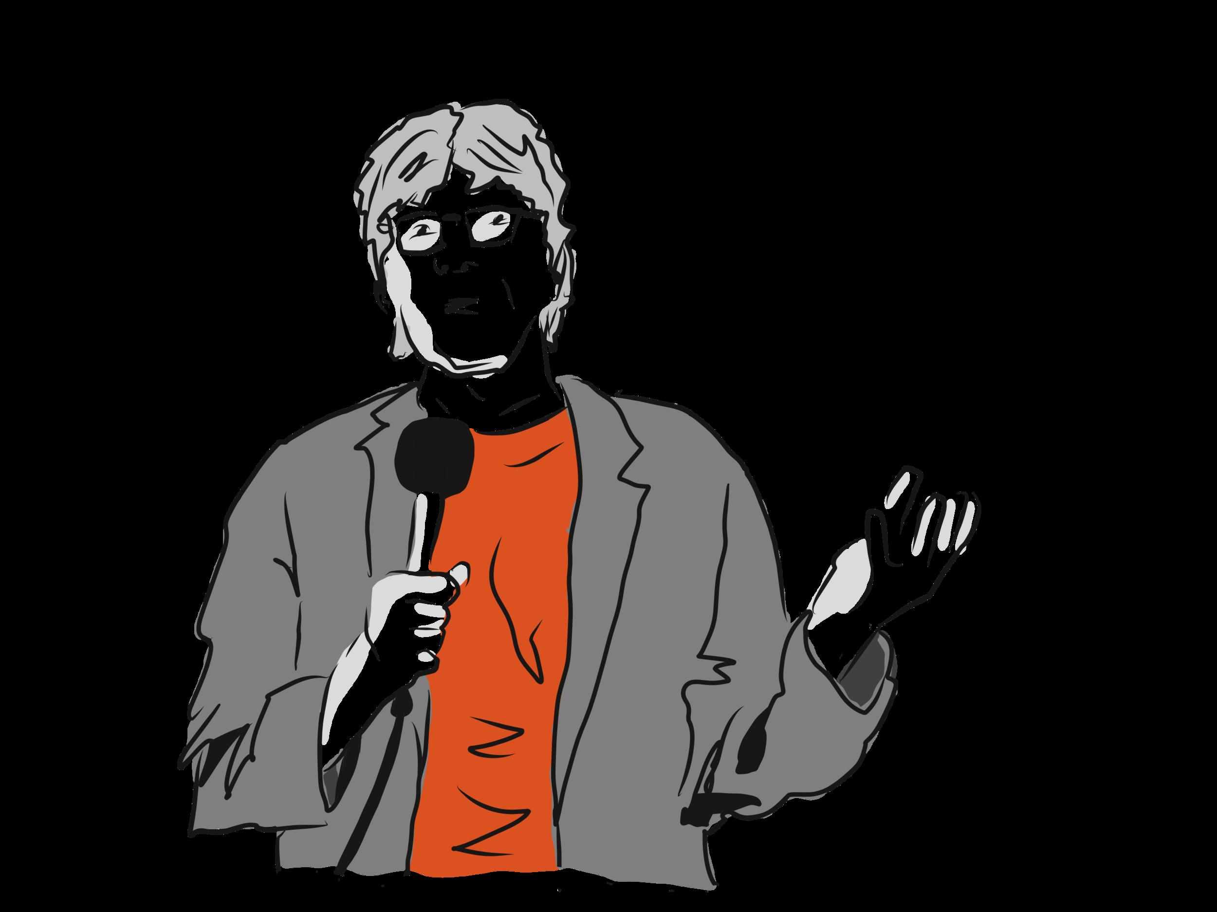 """Miloš Čermák - Miloš Čermák (1968) je novinář, autor asi dvaceti knih, naposledy """"návodu pro použití padesátníka"""" pod názvem Žena mi slíbila černošku. Od roku 2013 do roku 2019 byl šéfredaktorem online verze Hospodářských novin, předtím působil například v Reflexu nebo Lidových novinách. Komikem se stal v rámci boje s krizí středního věku. Ta se původně projevila tím, že začal dělat smajlíky do textových zpráv. Bohužel se ukázalo, že to tím neskončí. Proto se od loňska věnuje tzv. standup comedy. Je to nedůstojné a ponižující (jak by řekla matka jeho kolegy Luďka Staňka), ale pořád je na tom lépe než muži, kteří si kupují sportovní auta nebo utíkají od rodin s mladými milenkami."""