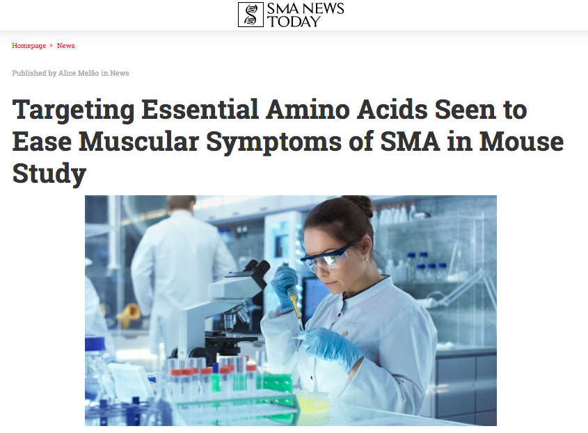 SMA NEWS TODAY has written a nice article on our recent EBioMedicine paper. - June 11th 2018