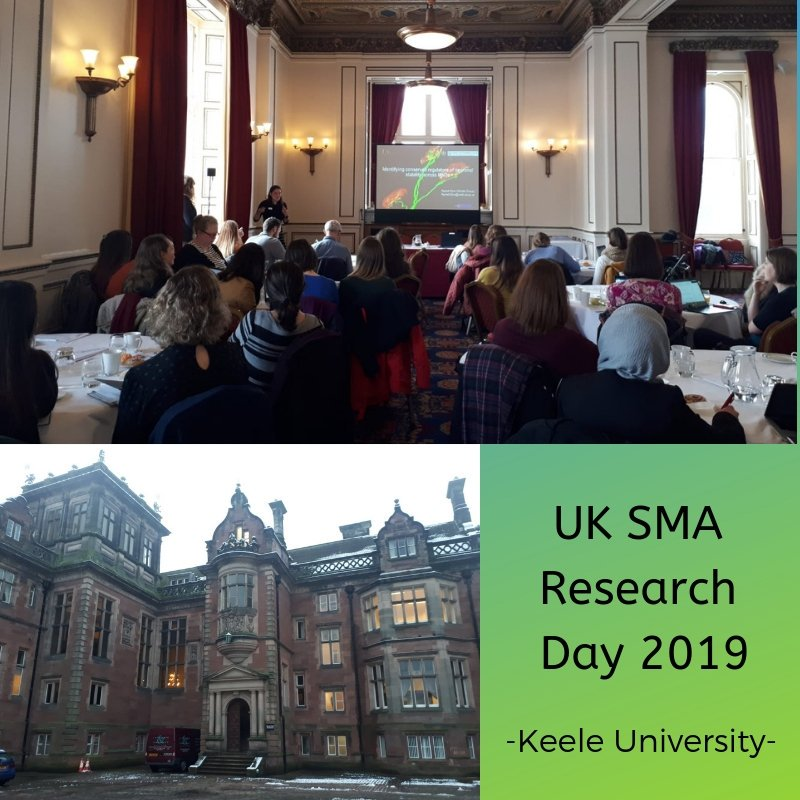 We hosted a successful UK SMA Research Day at Keele Hall, Keele University - January 23rd 2019