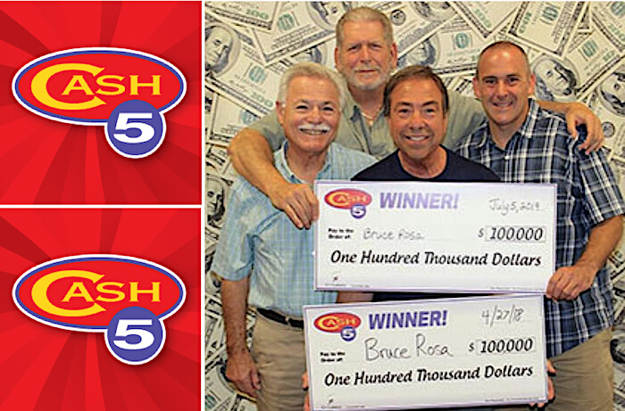 The Cash5 lottery number switch that winner used to get TWO $100,000