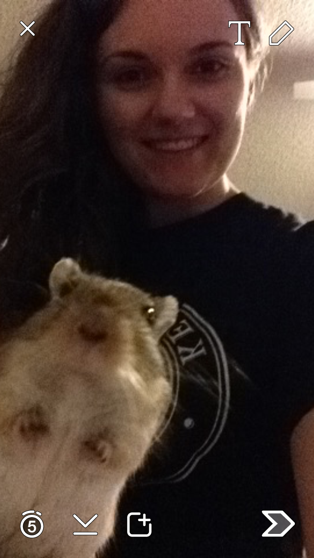 Selfie Time! - Hammy always knew when the camera was on.