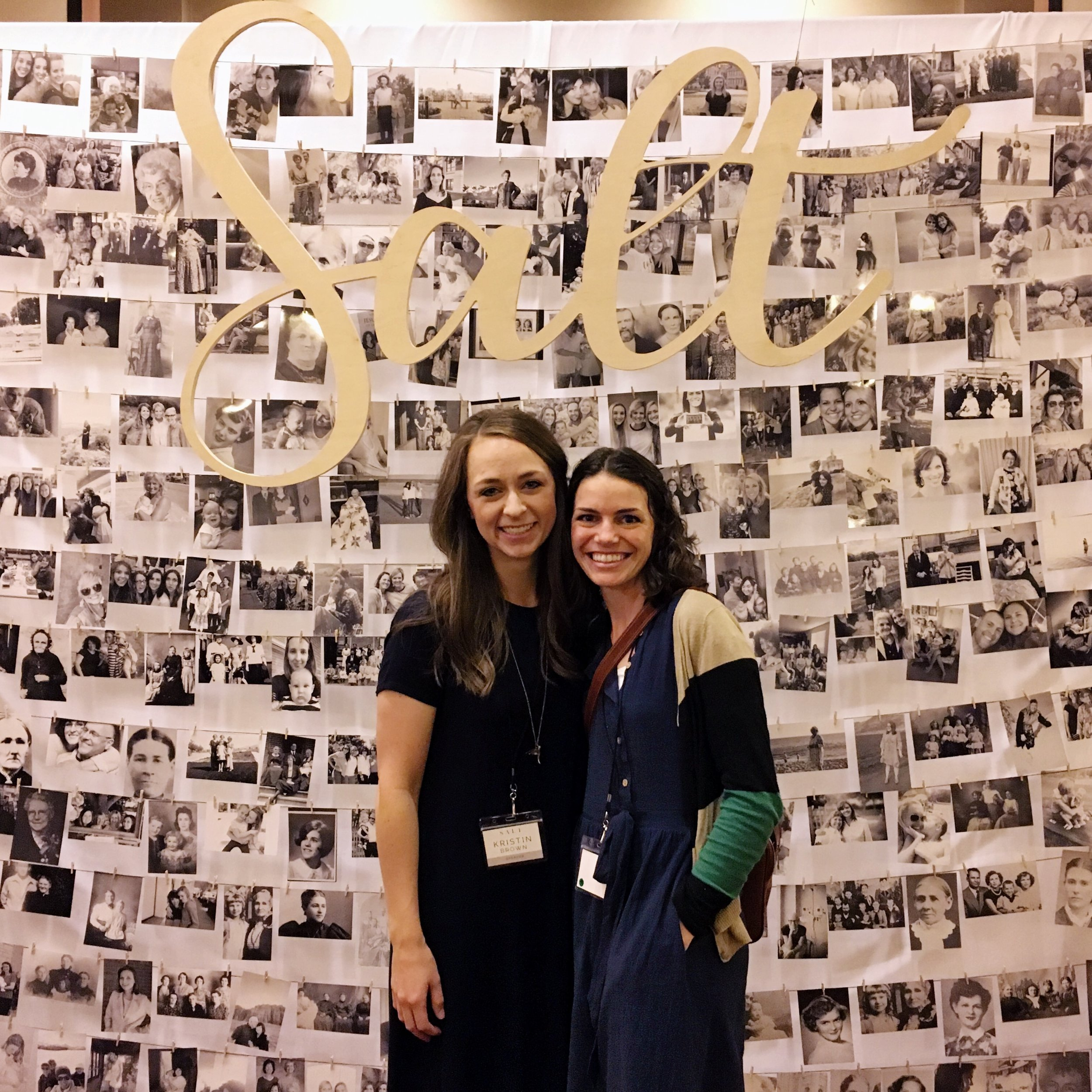 Here we are at SALT. We Loved this wall of photos that was a compilation of different faithful women in our lives, which is pretty neat.