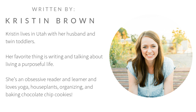 Kristin Brown is a co-host of The Progress Project and loves talking about living a more purposeful life.