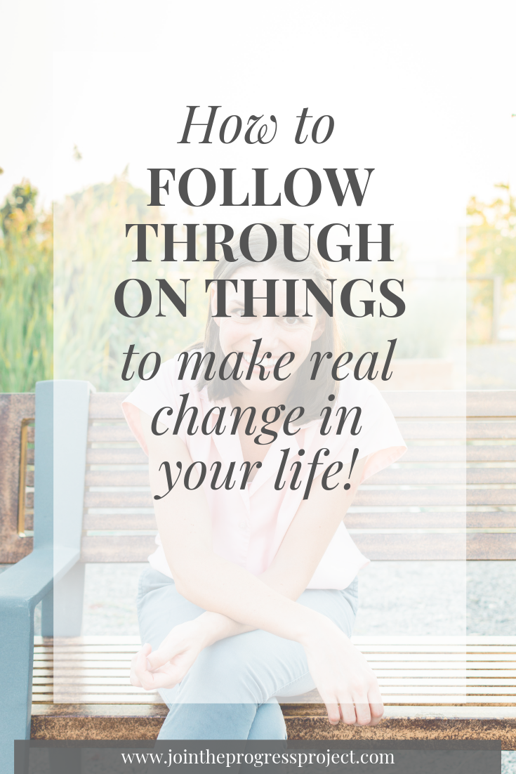 We're talking all about how to follow through on things so you can make real change in your life! We get bogged down by the one scary thing we think we can't do. And if you get through that then you realize you can just use the same principles you used for that for something else. Then nothing can stop you.