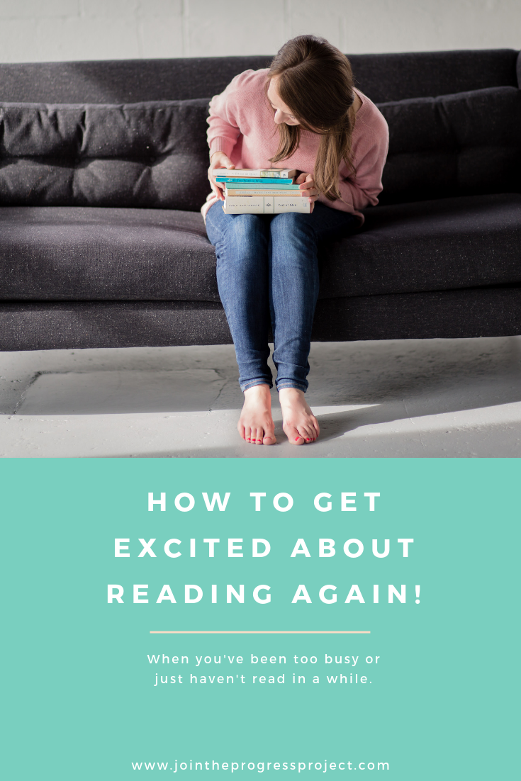 Here's a few great and easy ways to get excited about reading again when you've been too busy or just haven't read in a while.
