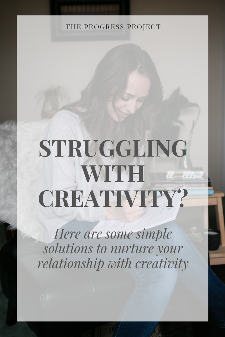 What is the current state of your relationship with creativity? (long-distance? neglected? needy? healthy?) No matter where you're at with your creative work, the solution is simple!