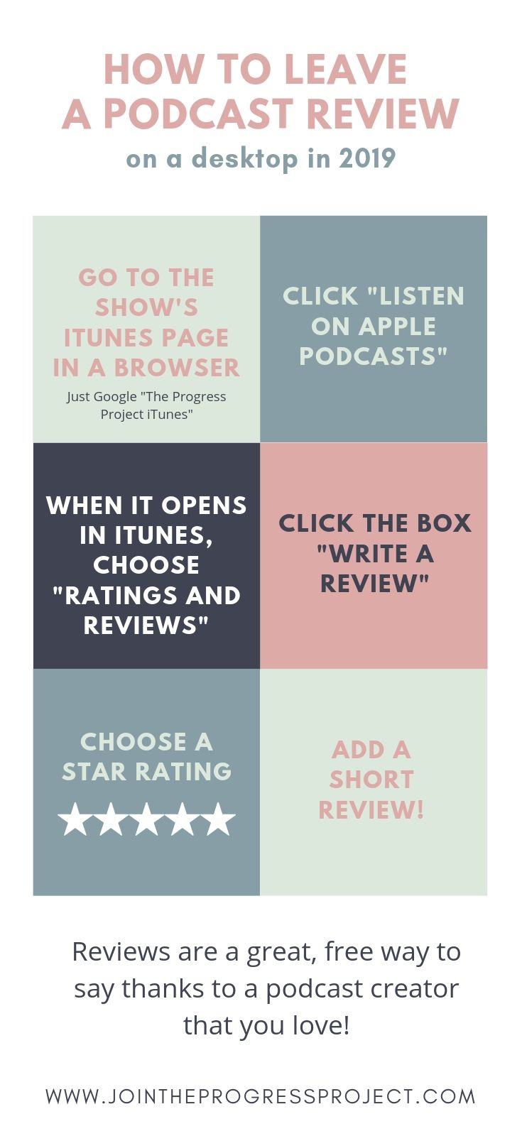 Here's how you can easily leave an itunes review on your desktop in 2019. Reviews are a great, free way to say thanks to a podcast that you love!