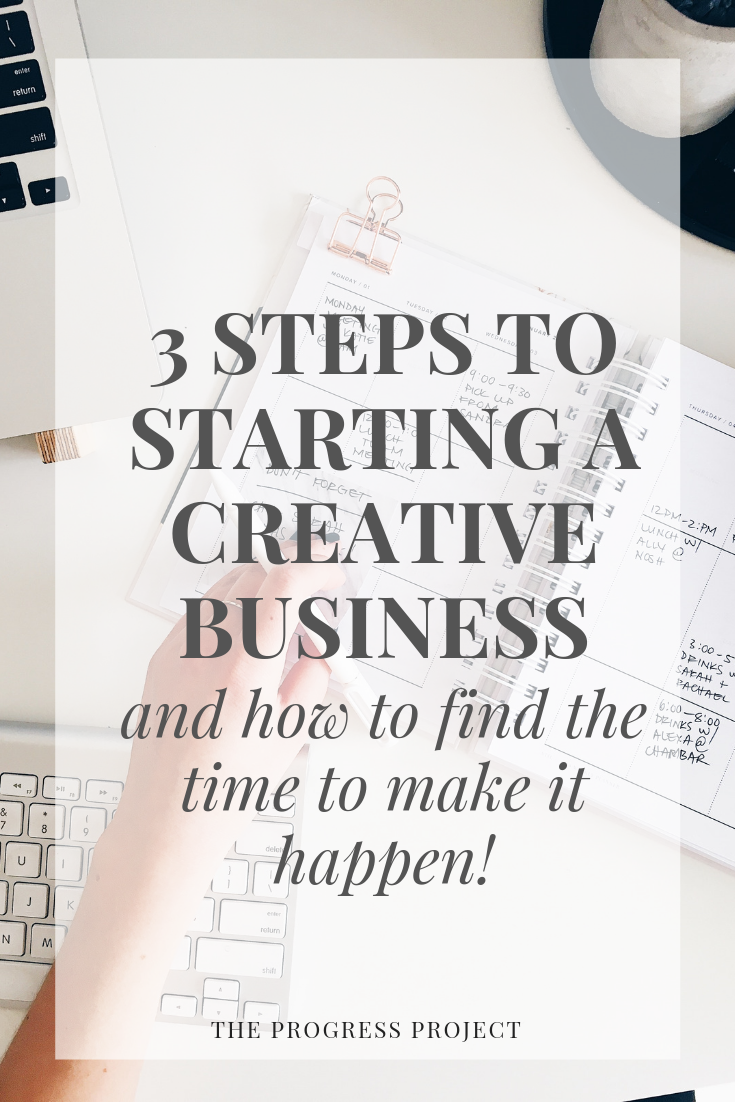 This is for anyone who has or dreamed of having their own business! Click through to learn why you need to focus on strategy AND mindset, the 3 super simple steps to start any business, and how to find the time to make it happen!