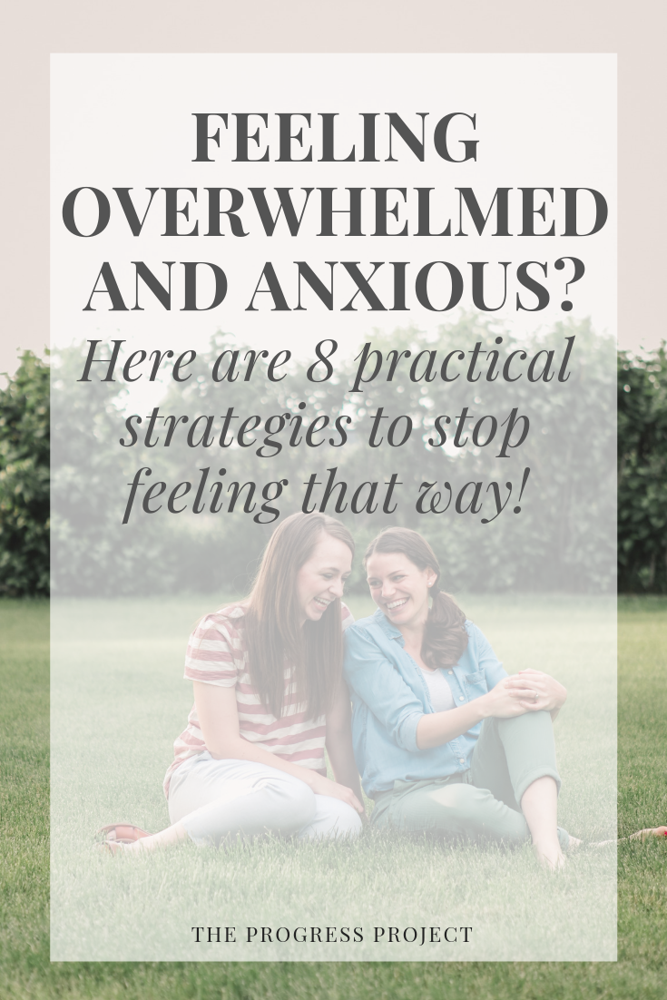 Do you feel overwhelmed all the time? We know the feeling. Click through for 8 practical strategies to stop feeling overwhelmed and anxious right away, plus how to reconnect to your greater purpose to create a life you don't feel overwhelmed by.