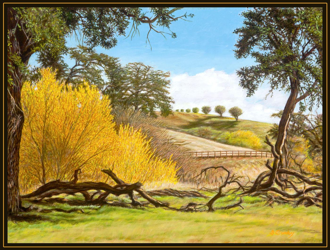"""Along the Huerhuero"" by Dennis Curry"