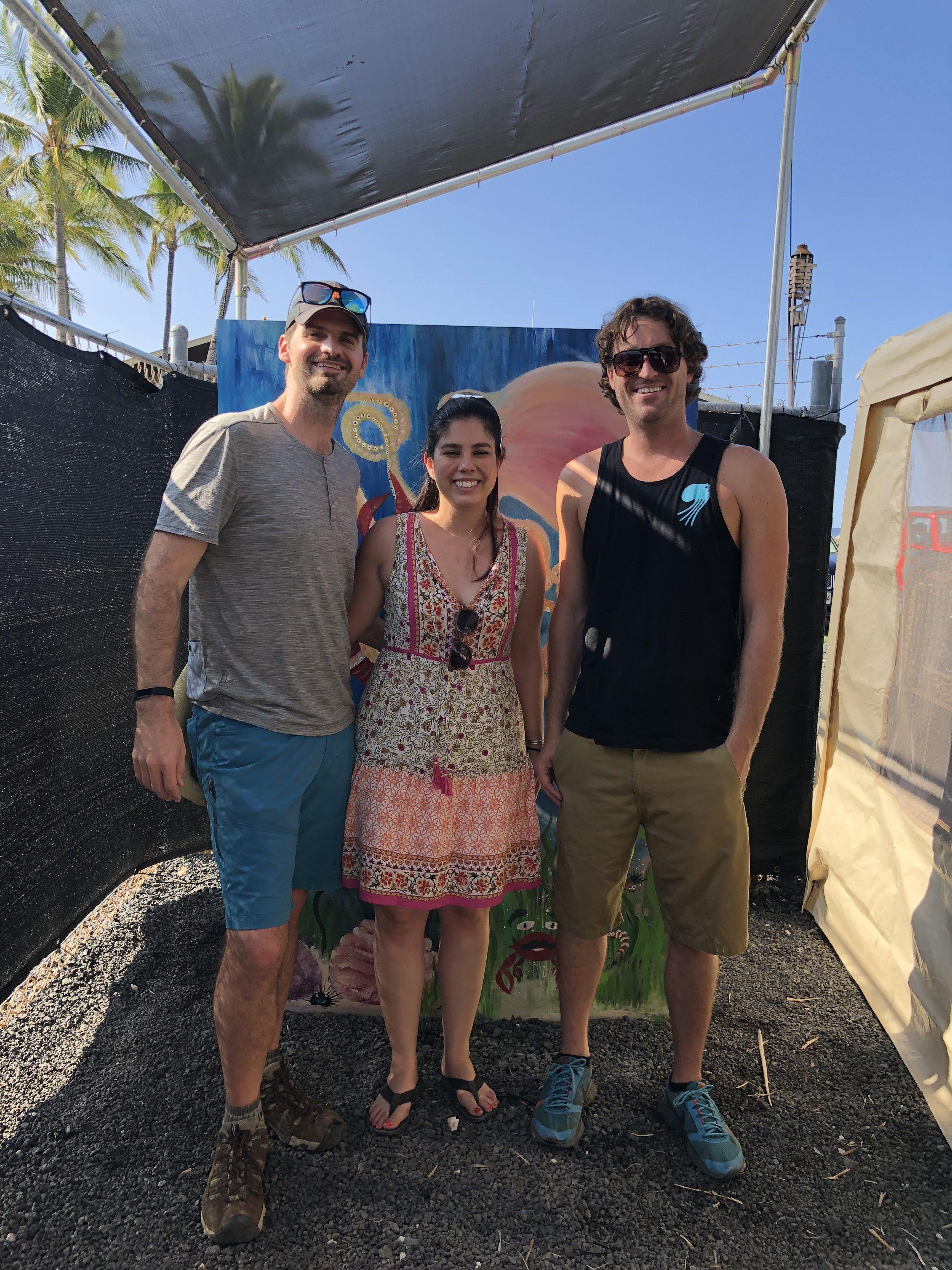 Matt and Kelly with CEO/Owner of Kanaloa Octopus Farm