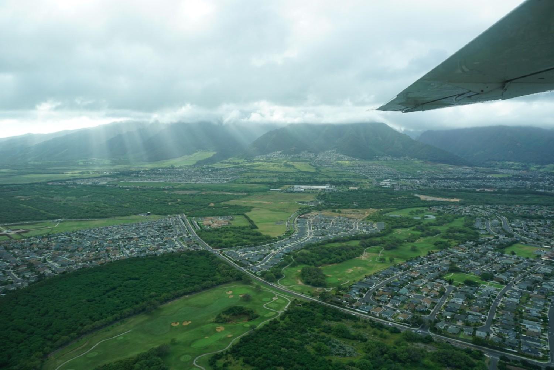 View of Maui from the plane. boldlygotravel.com
