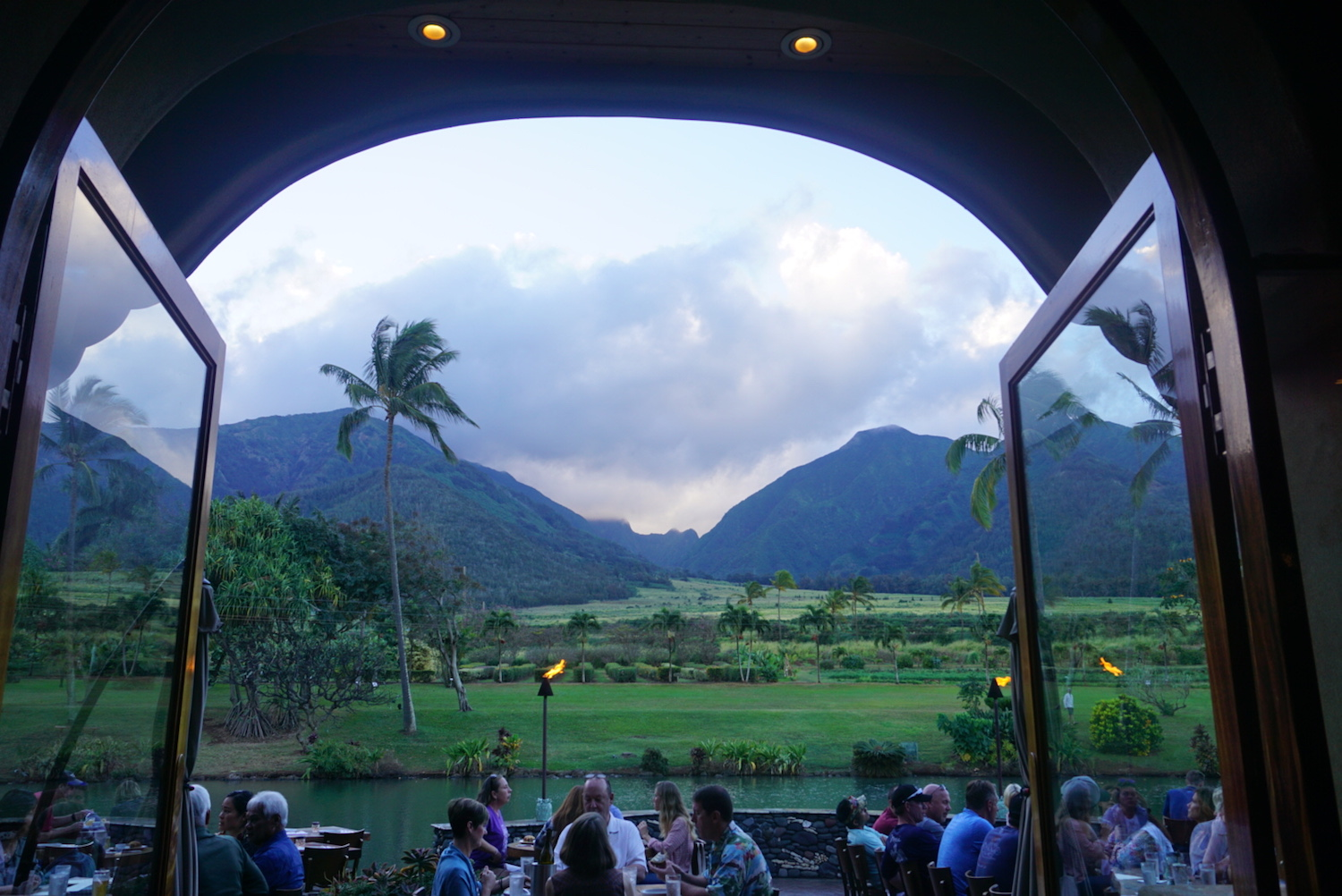 View from inside the Mill House Restaurant on Maui, Hawaii. boldlygotravel.com