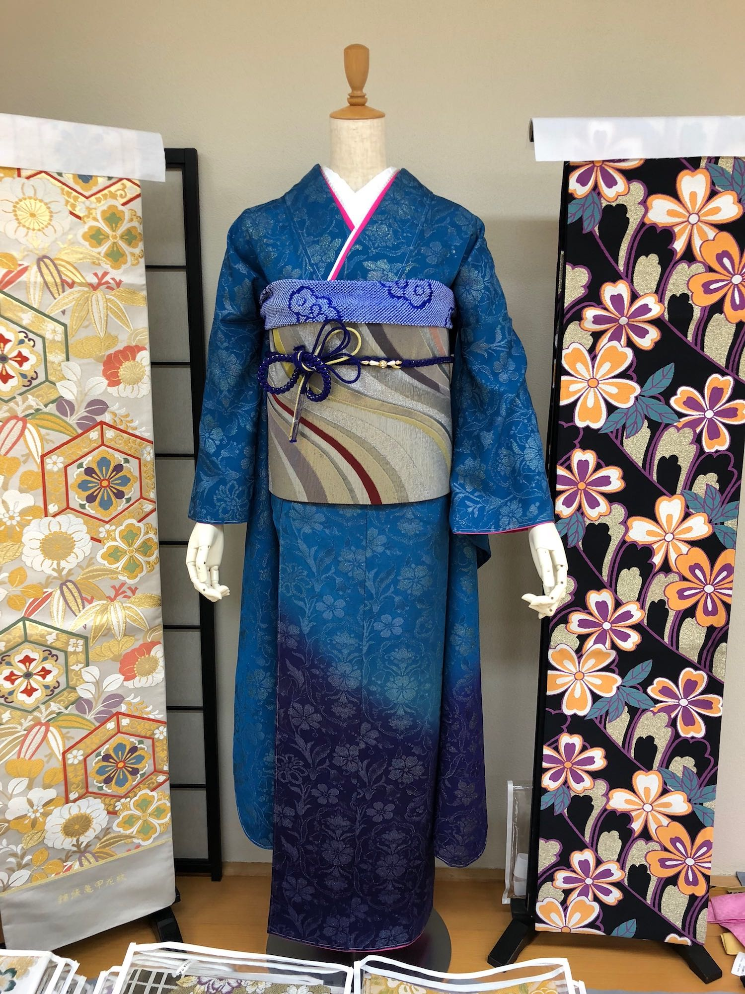 Example of a traditional unmarried womans kimono in Kyoto, Japan. boldlygotravel.com