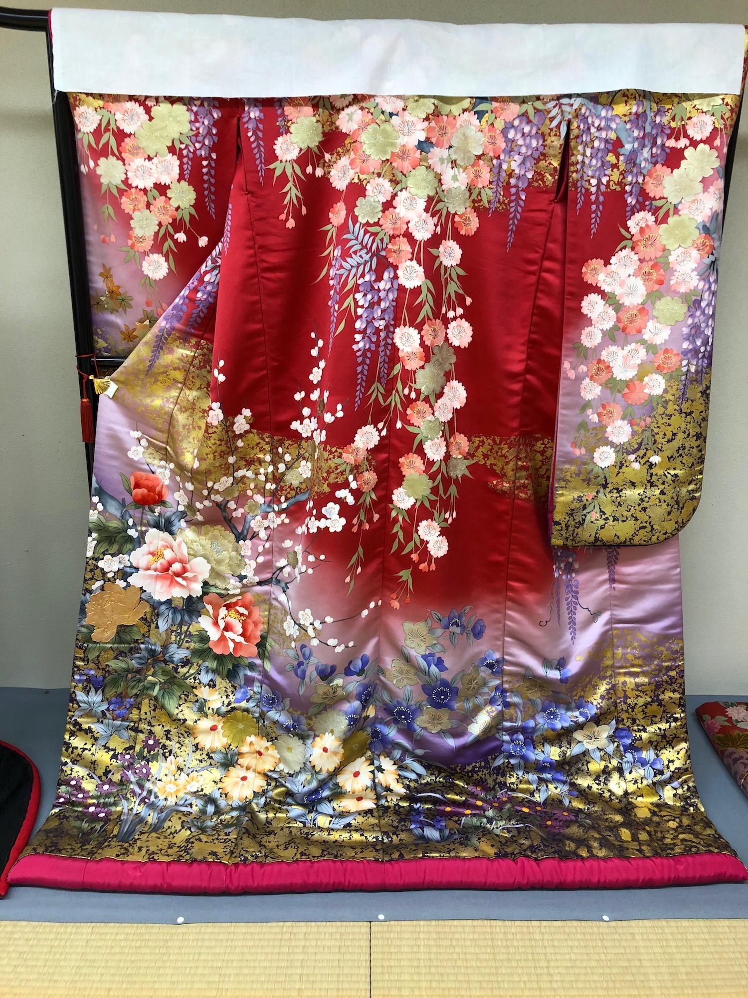 Example of a traditional bridal wedding day kimono in Kyoto, Japan. boldlygotravel.com