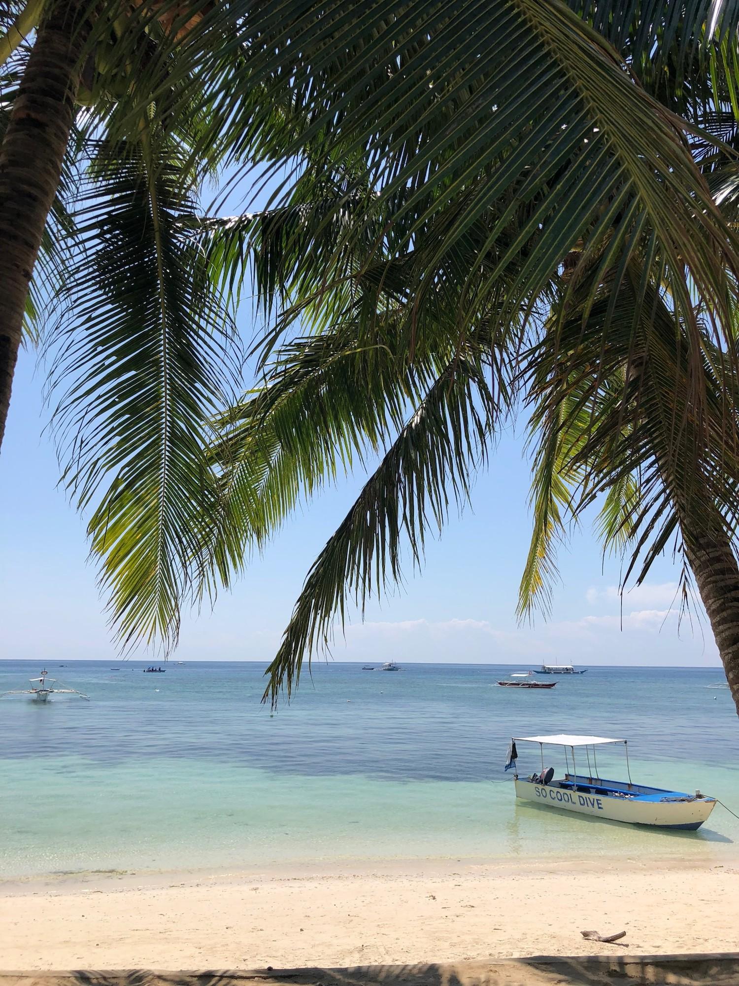 The beautiful Alona Beach on the island of Bohol, Philippines.