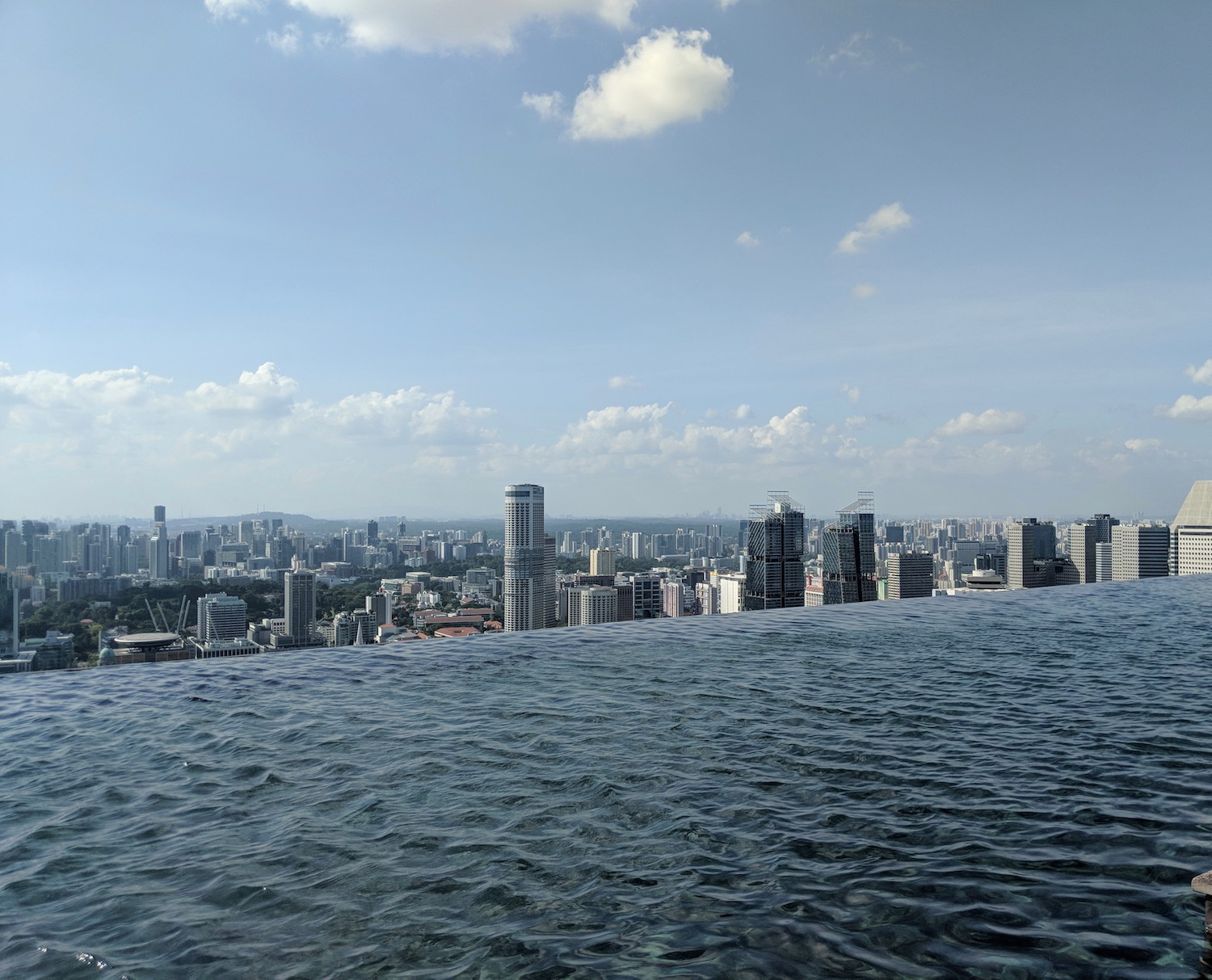 Marina Bay Sands famous infinity pool without people in it. boldlygotravel.com